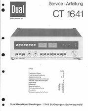 Dual Service Manual für CT 1641