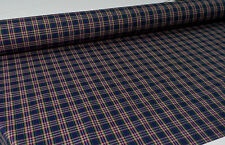 NAVY/RED POLY/VISCOSE YARN DYED CHECK FABRIC : $4.99 P/M :  #5080