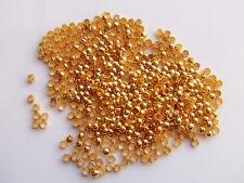 200pz  schiaccini colore oro 2.5mm lead,nickel free
