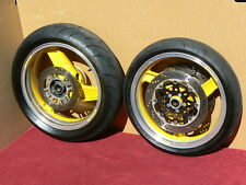 FRONT & REAR WHEEL SET w/ rotors 90-93 ZX600D ZX6 ZX600 Ninja 91 92 rims ZX6R