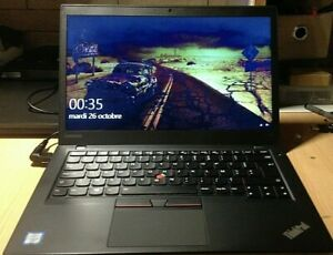 Lenovo Thinkpad T470S I5 RAM 8Go/SSD 256Go/CLAVIER RETROECLAIRE/2 BATT/Full HD