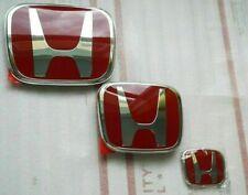 Red H Emblem Logo Frontrearsteering Wheel Fit For 06 15 Honda Civic 4dr Sedan Fits 2012 Honda Civic