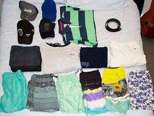 VARIOUS CLOTHES  Champion, Gazman, Ripcurl. Hoodies, Shorts, Hats, Belt
