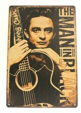 Johnny Cash Tin Concert Poster Sign Man Cave Vintage Ad Style The Man in Black