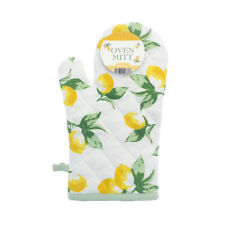 Country Club Lemons Oven Mitt Glove Pot Holder Cooking Heat Resistant Yellow