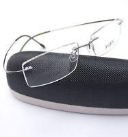 Titanium Grey Rimless Men Flexible Optical Eyeglass Frame Eyewear Spectacles RX