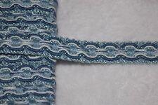"$1 yard Denim Blue White sewing non stretch upholstery gimp BRAID trim 5/8"" ws0"