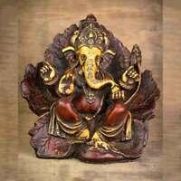 Leaf Wing Ganesh Statue - Antique