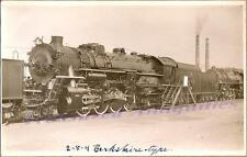 1928 Erie Railroad Steam Engine #3401 2-8-4 Locomotive Train Real Photo Postcard