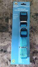 """Greenbrier Kennel Club Blue Adjustable Nylon Dog Collar - 14""""-20"""""""
