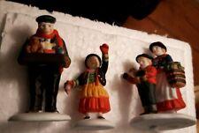 Vintage The Toy Peddler #56162 set of 3 Retired Alpine Village Dept 56