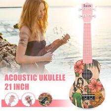 Pink Girl 21'' Mini Acoustic Guitar 4 String Ukulele Gift for Kids Music