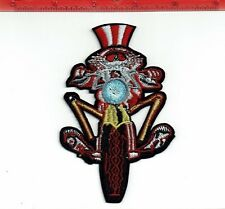 """4"""" Grateful Dead Electric uncle sam biker patch Iron on patches shakedown USA"""