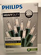 Phillips 200ct Heavy Duty Christmas Incandescent Mini String Lights Clear Green