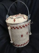 Vintage Tin Container with Handmade Beading