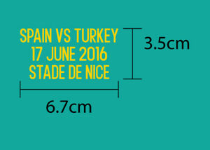 Spain Vs Turkey EURO 2016 Group Stage match details FREE SHIPPING !!!