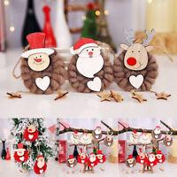 3Pcs Christmas Tree Hanging Snowman Santa Claus Home Decor Xmas Party Ornaments