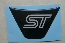 FIESTA ST180 STEERING WHEEL GEL BADGE OVERLAY, MK7/MK8/MK9 BLACK/WHITE