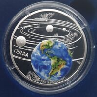 Niue 1 Oz Silver the Earth - Solar System 2019 Proof in a Case with COA