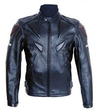 Outwear Motorcycle Racing PU Leather Jacket Hot Sale Riding Coat Jackets Mens sz