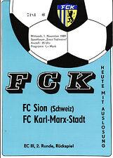 EC III 89/90 FC Karl-Marx-Stadt - FC Sion, 01.11.1989