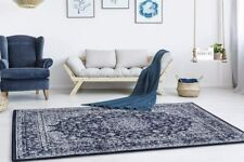 Stylish Large Space Rugs Sale Hallway Traditional Area Rug Navy Soft Carpets