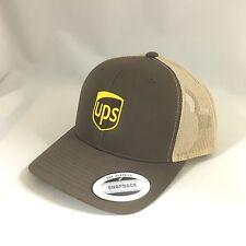 UPS Trucker Mash Snapback Cap United Parcel Service Hat Yupoong Adjustable 5984885983c9