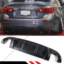 For 2014-17 Infiniti Q50 Q50S AQ Style Sport JDM Black Rear Bumper Diffuser Lid