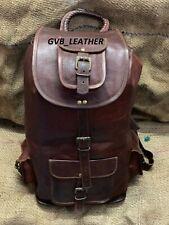 Men's Vintage Leather Rucksack Easy To Use Laptop Backpack School traveling Bag