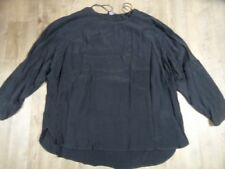 VIA APPIA DUE chices Blusenshirt grau Cupro Gr. 48 NEU