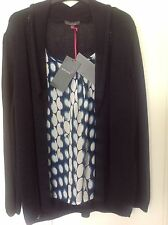 M&S  Per Una Navy Cardigan With Attached Top Front Size 22 BNWT