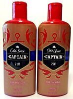 (2 pack) Old Spice CAPTAIN 2 in 1 Shampoo & Conditioner - For The Hair 12 oz