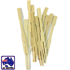 200pcs Bamboo Catering Forks Disposable Sticks Fruit Finger Food HKFB61410x200