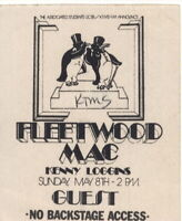 FLEETWOOD MAC 1977 RUMOURS TOUR SANTA BARBARA BACKSTAGE GUEST PASS / KTMS / EX