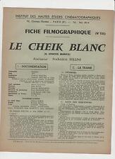 LE CHEIK BLANC (sceicco bianco) FEDERICO FELLINI 1952 flaiano PRESSBOOK