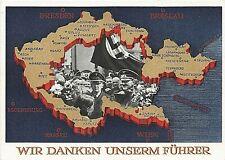 POSTCARD - GERMANY - THIRD REICH - WIR DANKEN UNSERM FUHRER -   ORIGINAL