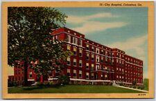 City Hospital Columbus Vintage GA Postcard F7
