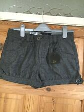 BNWT AUTHENTIC CASUALS Ladies Wool Blend Herringbone Low/Mid Rise Shorts Size 10