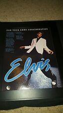 Elvis Presley Michael St. Gerard Rare Emmy Consideration Promo Poster Ad Framed!