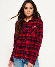 Womens Superdry Shirts Various Styles & Colours AI - Milled Ontario Navy Check M