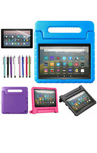 """Handle Kids Stand Cover Case +Screen Protector For Amazon Fire HD 8"""" Tablet BLU"""