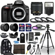 Cámara Nikon D3400 DSLR + 18-55 Mm Nikkor Lente + Conjunto de Accesorios de 30 piezas