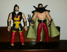 THE SHADOW ACTION FIGURE 1994  NINJA  AND SHIWAN KHAN KENNER VINTAGE 90'S