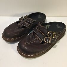 Dr Martens Women's Brown Leather Slip On Mary Jane Clogs Size US 7 - EU 38