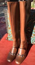 $1895 Gucci Lillian Boots Over The Knee Thign High Horsebit sz 40 US 8.5-9 NEW