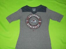 Official NHL ~ Colorado AVALANCHE Ladies Gray  Short Sleeve Tee ~  Size L  ~