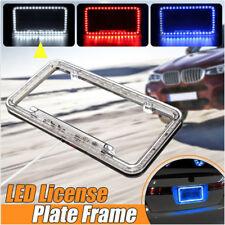 Universal 54 LED 12V Lighting Acrylic Plastic License Plate Cover Frame Kit