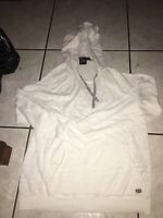 Armani Exchange Mens Sweater Hoodie Sz Large White Used