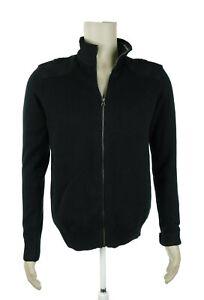 NWT Buffalo David Britton Small Black Zip Front Sweater Jacket NEW $99
