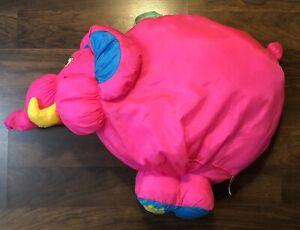 Vtg 1994 Fisher Price BIG THINGS Snuffalump PINK ELEPHANT Plush Toy